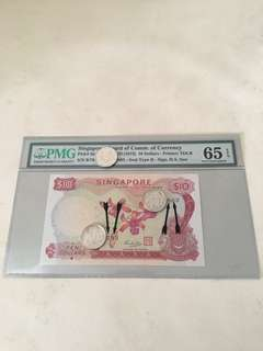 Orchid Series $10 Sign By Hss w/seal with Mismatch Serial Number