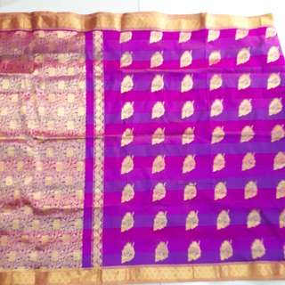 Kain Saree : Gold & Purple hue saree #mcsfashion