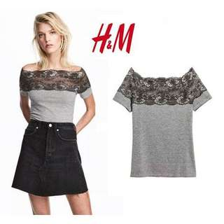 H&M Top with Lace yoke