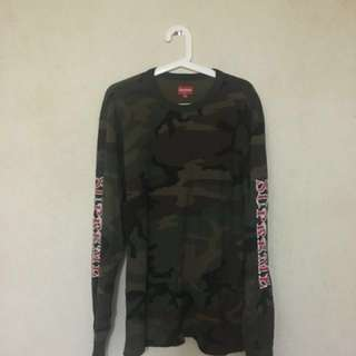 Supreme 17F/W camo waffle long sleeve tee backpack duffle sweater zip up