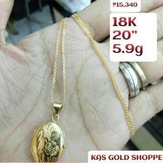 ONHAND!18K SD GOLD NECKLACE