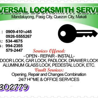 Locksmith services
