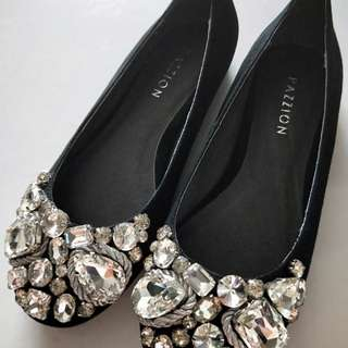 BN Pazzion black embellished flats