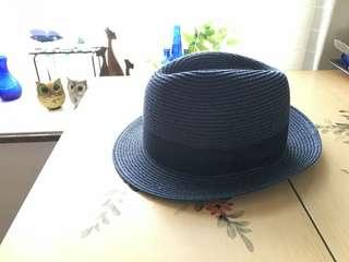 籃色草帽,購自日本,大陸做