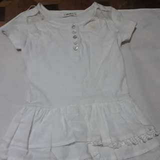 White Onesie Dress