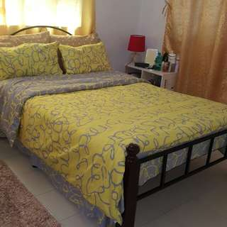 Bed Double Size, Complete 3 bedding set