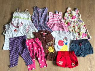 Bundle of girl clothing 18m to 24m