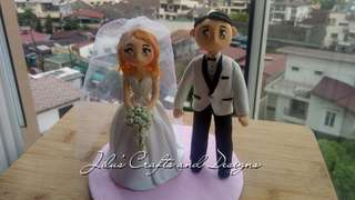 Couple Wedding Cake Topper 5inches