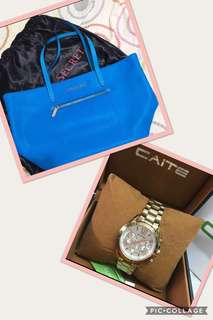 Buy 1 Take 1 Victoria's Secret Tote Bag and Caite Watch