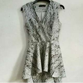 Something Borrowed peplum dress