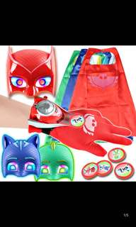 PO pj mask cosplay accessories set brand new mask w Lights *