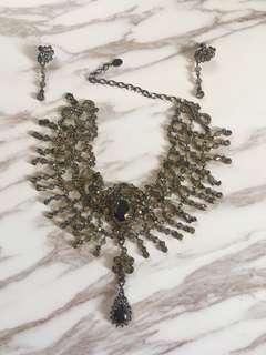 🚚 禮服項鍊+耳環