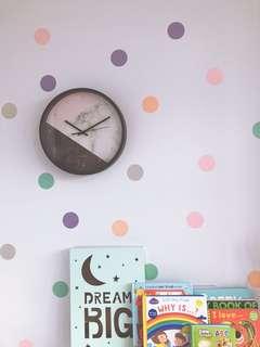 Marble Design Clock