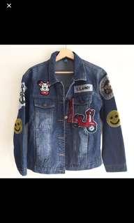 Denim jacket patch .. ala ala milea yg sangat kekinian dan keren