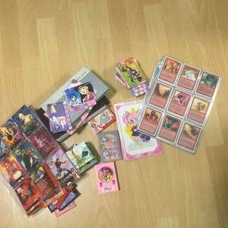 Sailor Moon, X-men, Magic Cards, Bones