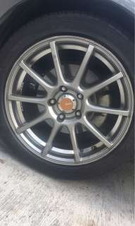 17inch rim with ps 3 tyre 90%