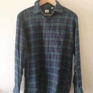 Uniqlo Long Sleeve Flannel Polo