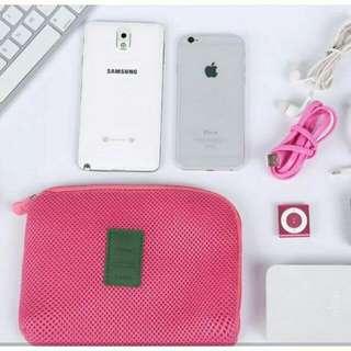Travel Gadget Organizer Pouch (Pink)
