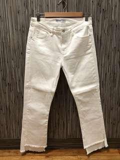 Zara Jeans Skinny Bootcut in White