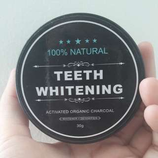 TEETH WHITENING 100% natural ORGANIC CHARCOAL
