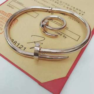 Cartier Nail Bangle and Ring
