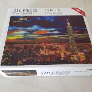 3D puzzle 216 pieces