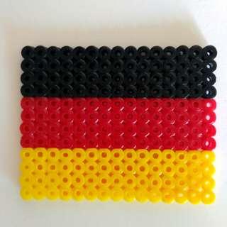 德圌國國旗杯墊