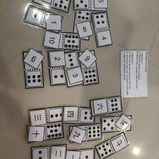 Number dominoes busy bag