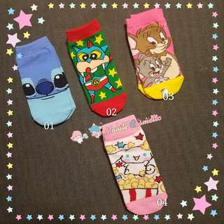 Instock cartoon unisex kids socks