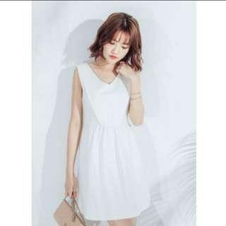 Mayuki white skater dress