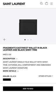 Brand new authentic Saint Laurent YSL wallet