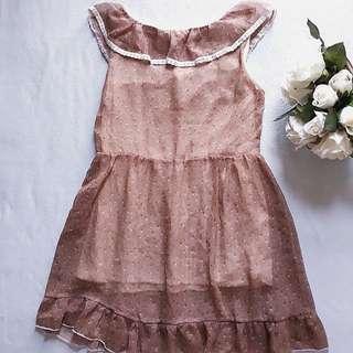 Cinnamon Chiffon Dress