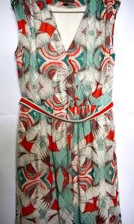 Plains & Prints Dress with Belt