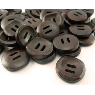 WB10152 - 20mm simple design wooden buttons, wood buttons (10 pieces) #craft