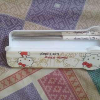 Hellokitty stainless chopstick