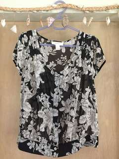 Forever 21- Floral B&W
