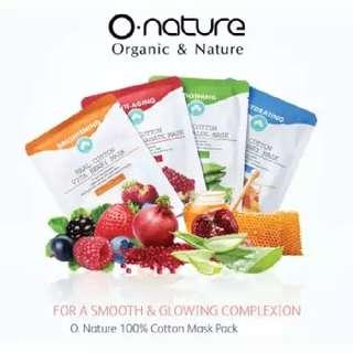 O.NATURE MASKER WAJAH 100% ORGANIC & NATURE MADE IN KOREA