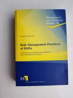 Risk Management Practices of SMEs By THOMAS HENSCHEL
