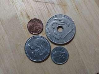 PAPUA NEW GUINEA1975非流通四枚