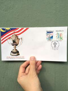 JUARA PIALA THOMAS - First Day Cover