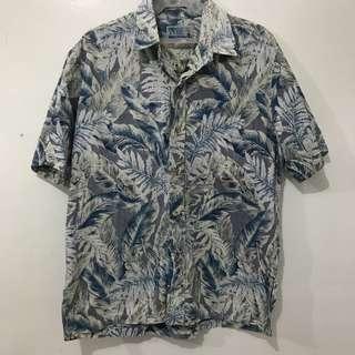 Hawaiian Print Polo Short Sleeve Button-down