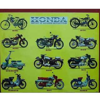 Vintage Honda poster