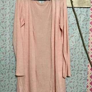 Peach Pink Cardigan