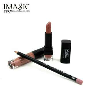 🎁 Imagic Gift Set 3pcs Lip Tint Gloss + Lipstick + Lip Liner