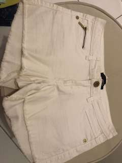 Tally Weijl white denim shorts size 26-27 srp 500
