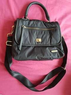 Hedgren seduction temptation black convertible sling bag