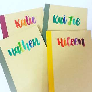 Customisable Goodie Colleagues birthday Colleague Teachers party Day Student Presents Present Gift Gifts Teacher Door Birthday friend Friends Day Kid Kids Boy Girl Calligraphy Personalised Customised Farewell Notebooks Notebook cheap bag affordable muji