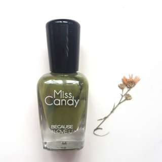 Peelable Nailpolish by Miss Candy (Forest Green)