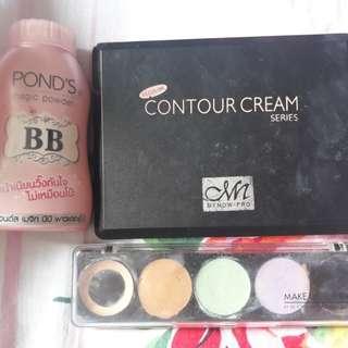 Paket 1 concealer makeupforever ponds magic powder, menow contour cream,