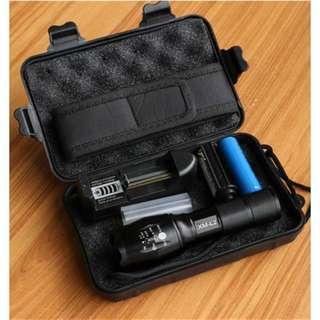 Senter LED Tactical CREE XM-L 8000 Lumens